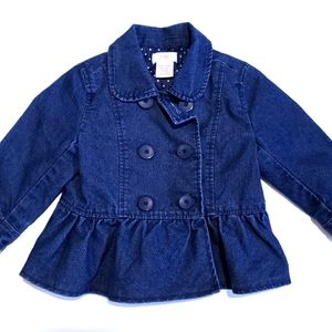 12-18M Jean Jacket with Ruffle | Joe Fresh
